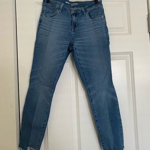 Old Navy Two Tone Petite Rockstar Jeans